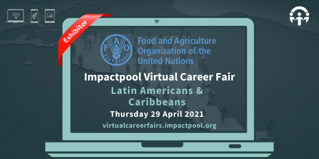 Fao at the impactpools career event for latin american and caribbean nationals a130e563 9e42 4202 93a5 89409af2c2e2