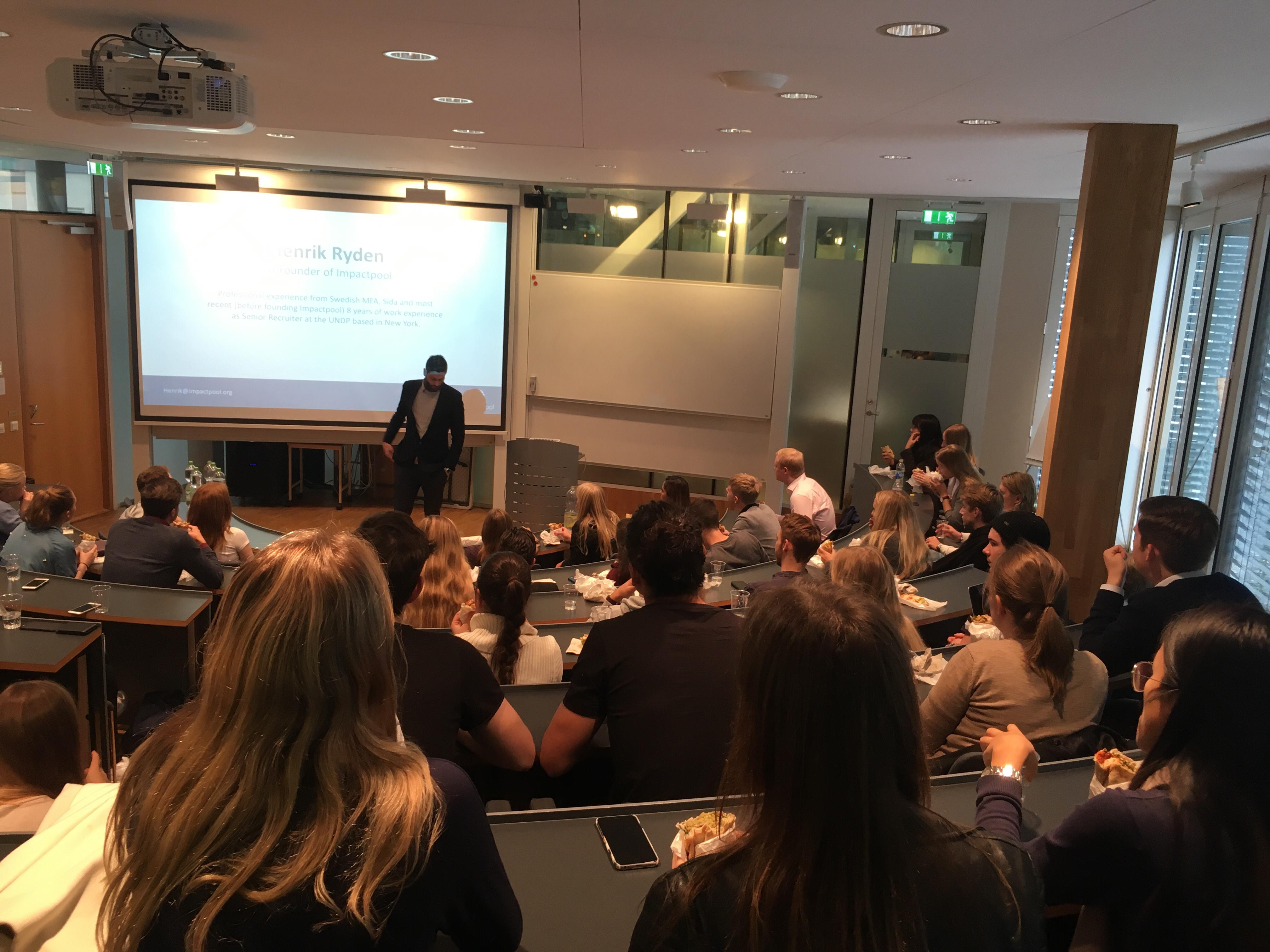 Impactpool speaks at the stockholm school of economics 8bdda253 e6f2 412c 9ed0 844e4a02dc9d