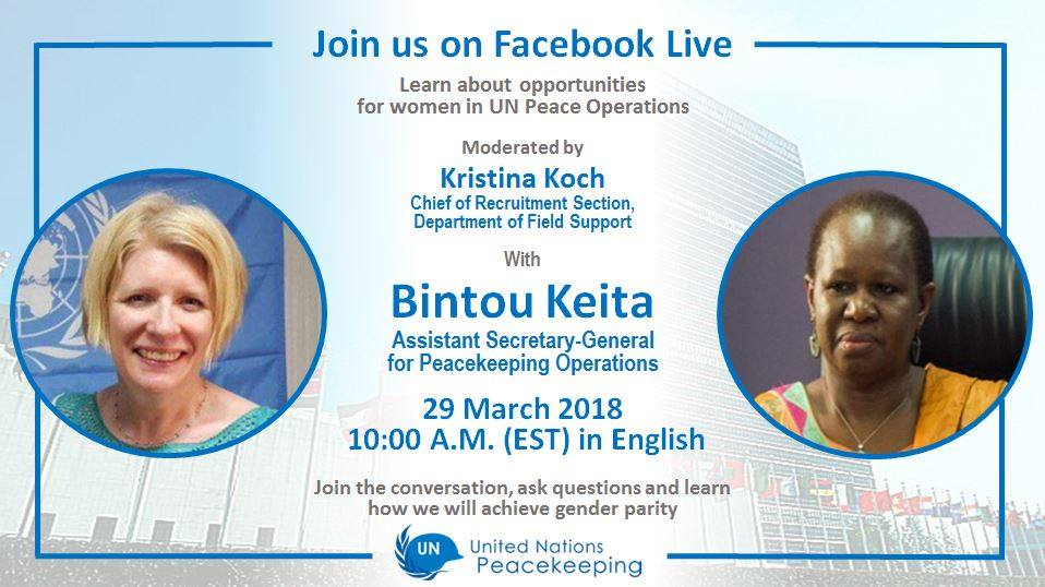 Join the live session of ms bintou keita on 29 march and  learn more about opportunities for women in peacekeeping bf6dbdd8 a03f 4f02 90e5 a0cad193717d