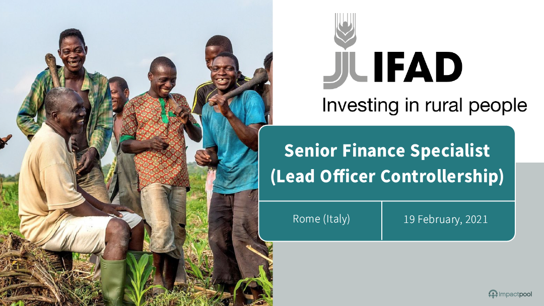 Ready for a un career ifad recruits a senior finance specialist lead officer controllership closes 5 february 2021 1e81cfa7 bd46 43c8 8dc3 9b7ad763ca61