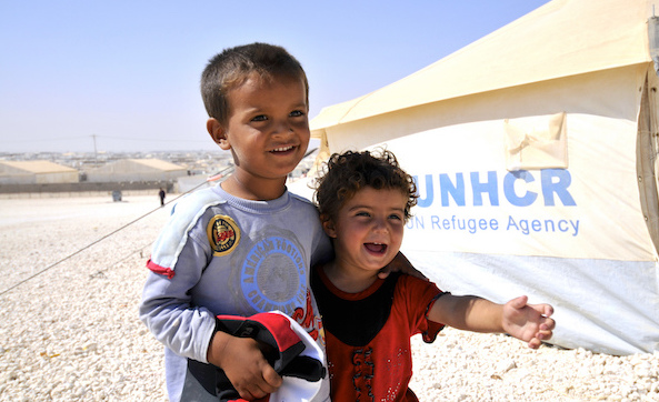 Unhcr children refugee camp zaatari jordan
