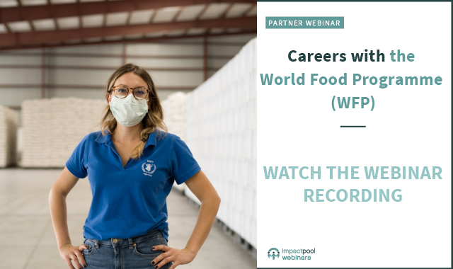 Watch the webinar how to have an impactful career with wfp 5947193c ae61 4504 9f81 a862ba6d4048
