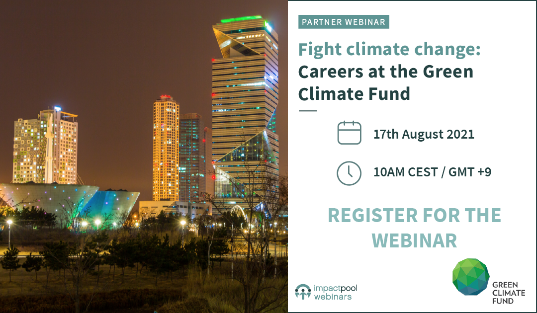 Webinar fight climate change careers at the green climate fund 35d64199 7fb3 4a04 b3a7 2aef01dc6732